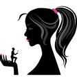 Girl silhouette love vector image