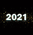 2020 happy new year black background with golden vector image vector image