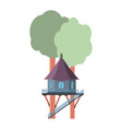 a house on a tree vector image