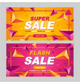 abstract sale promotion banner template poster vector image