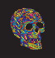 Abstract Skull vector image vector image