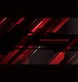 abstract technology cyber circuit red black vector image vector image