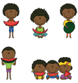 African-American boys vector image vector image