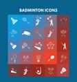 badminton icons vector image
