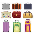 bags - modern realistic isolated set of vector image vector image