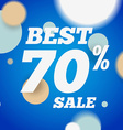 Best sale banner or offer design template Sale vector image vector image