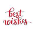 Best wishes hand lettering inscription handwritten