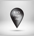 black friday map pointer vector image