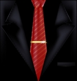 black suit and red tie vector image vector image