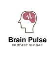 Brain Pulse Design vector image