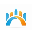 bridge logo design elements vector image vector image