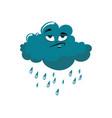 cartoon cloud with rain vector image