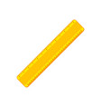 cartoon yellow ruler flat icon vector image vector image