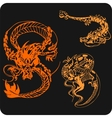 Chinese Dragons - set vector image vector image