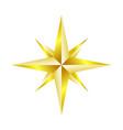 compass rose navigation golden star symbol design vector image vector image