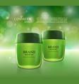 cosmetic ads poster moisturizing nourishing cream vector image