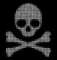death skull halftone icon vector image