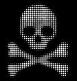 death skull halftone icon vector image vector image