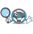 detective steering wheel in the character shape vector image vector image