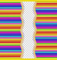 double border made of vertical rows colored vector image vector image