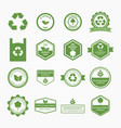 ecologic and nature sales tag vector image vector image