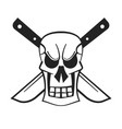 evil skull logo hand drawn for your design and vector image vector image