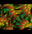 exotic tropical abstract leafy 3d seamless vector image vector image