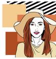 fashion woman pop art cartoon vector image