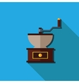 Flat coffee grinder isolated vector image