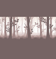 forest twilight vector image vector image
