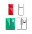 fridges on a white background vector image vector image