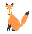 funny fox isolated element vector image vector image