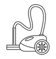 german vacuum cleaner icon outline style vector image