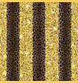 glitter and leopard fashion striped seamless vector image vector image