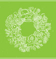 green tea circle doodles sketched green tea vector image vector image