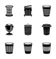 hackwork icons set simple style vector image vector image