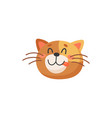 happy ginger cat with long whiskers isolated emoji vector image vector image