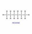 hexane formula vector image vector image