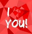 I love you red valentines or mothers day card vector image vector image