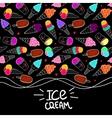 Ice Cream Seamless Border vector image