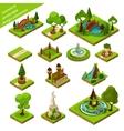 Isometric Landscape Design Elements vector image