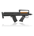 machine gun with a short barrel vector image vector image