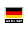 made in germany frame icon with german flag vector image vector image