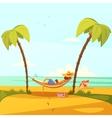 Man On The Beach vector image