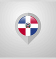 map navigation pointer with dominican republic vector image vector image