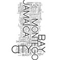 montego bay jamaica text background word cloud vector image vector image