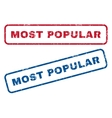 Most Popular Rubber Stamps vector image vector image