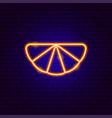 orange slice neon sign vector image vector image