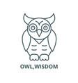 owlwisdom line icon linear concept vector image