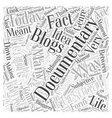 personal blogging documentary and history Word vector image vector image